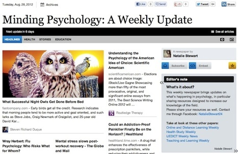 Aug 28 - Minding Psychology: A Weekly Update | Psychology Professionals | Scoop.it