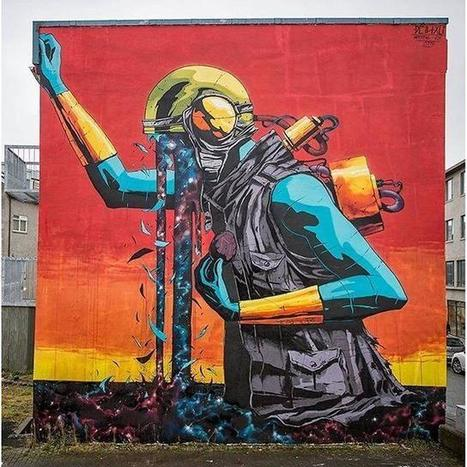 New work by @deih.xlf collab with the band... | Street Art (Best of...) | World of Street & Outdoor Arts | Scoop.it