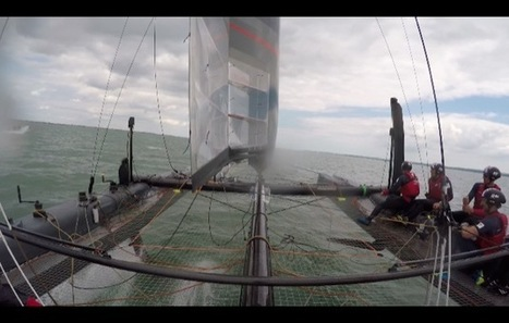 VIDEO: How to fly a foiling Americas Cup boat – Land Rover BAR's Paul Campbell ... - Yachting World (blog)   FLYING MULTIHULLS   Scoop.it