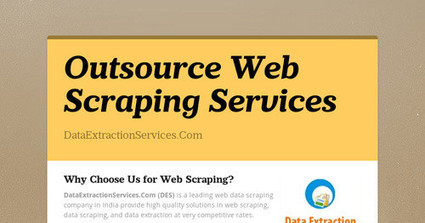 Outsource Web Scraping Services | Data Scraping | Scoop.it