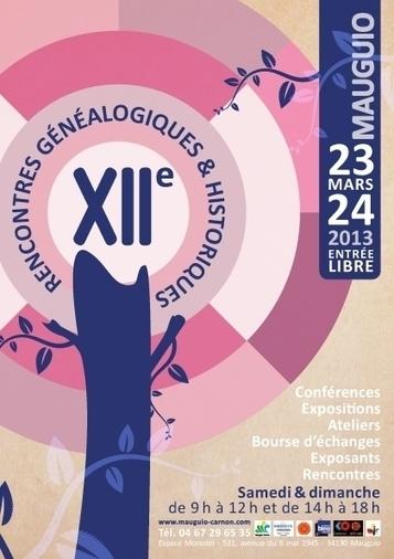 XIIe Rencontres généalogiques et historiques de Mauguio (Hérault) | Rhit Genealogie | Scoop.it