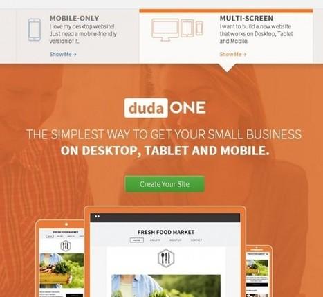 DudaOne, una fantástica plataforma para hacer sitios para web, móvil y tabletas | Diseño web  - Ideas | Scoop.it