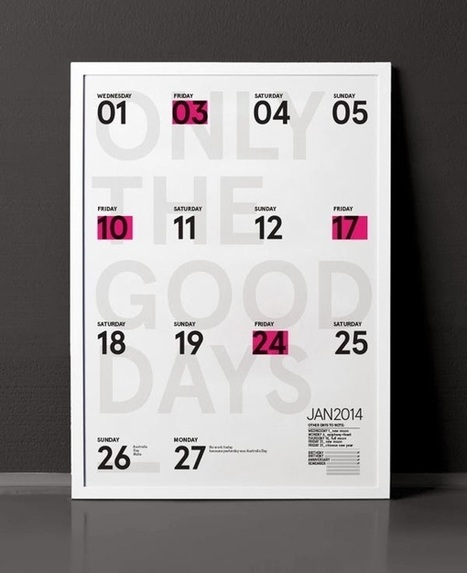 Awesome 2014 Calendar Designs | The Graphic Design Inspiration | Scoop.it