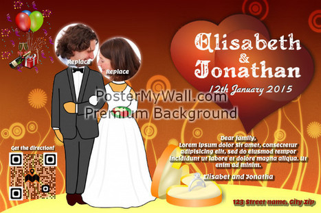 Wedding poster with direction indicator QR code on PosterMyWall | QR CODE TEMPLATES | Scoop.it