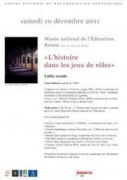 L'histoire dans les jeux de rôle au Musée national de l'Education – Blog actu Dol Celeb | Jeux de Rôle | Scoop.it