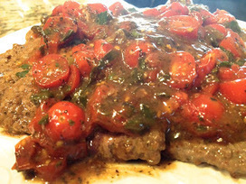 Recipe: Cubed Steak w/ Fresh Tomato Sauce | Hap...