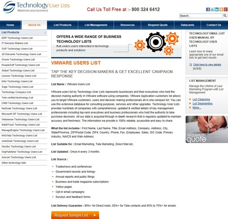 Most Comprehensive and Accurate VMware | Technology Email List | Scoop.it