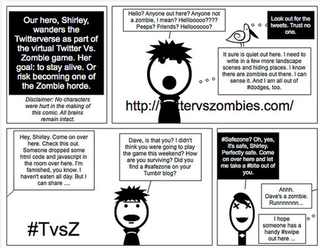 Digital Writing Month: Running from Zombies (Comic) | Twitter vs. Zombies: The Library | Scoop.it