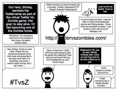 Digital Writing Month: Running from Zombies (Comic) | #digiwrimo: Digital Writing Month | Scoop.it
