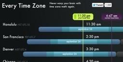 Every Time Zone : trouvez le bon créneau horaire pour vos échanges - Geek &Social | Geekerie&co | Scoop.it