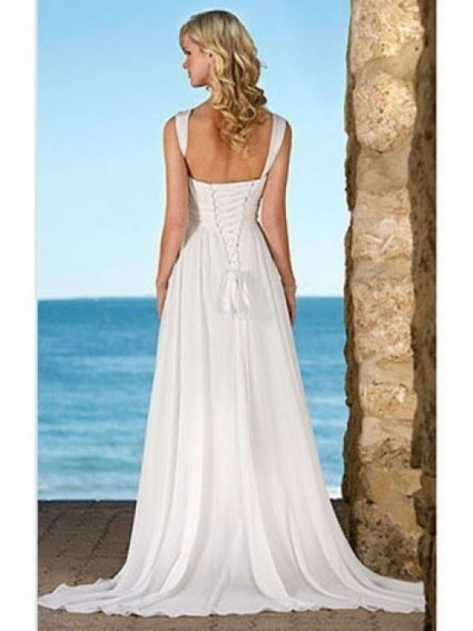 Hot Selling Sheath/Column V-Neck Chiffon Wedding Dress | Wedding Dresses | Scoop.it