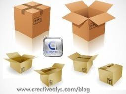 Plantilla de Cajas de Carton - Vectores Illustrator | Recursos diseño gráfico | Scoop.it