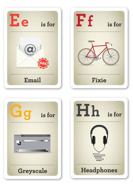 Creative ABC Flash Cards for the Modern Baby - My Modern Metropolis | Hello-Design | Scoop.it