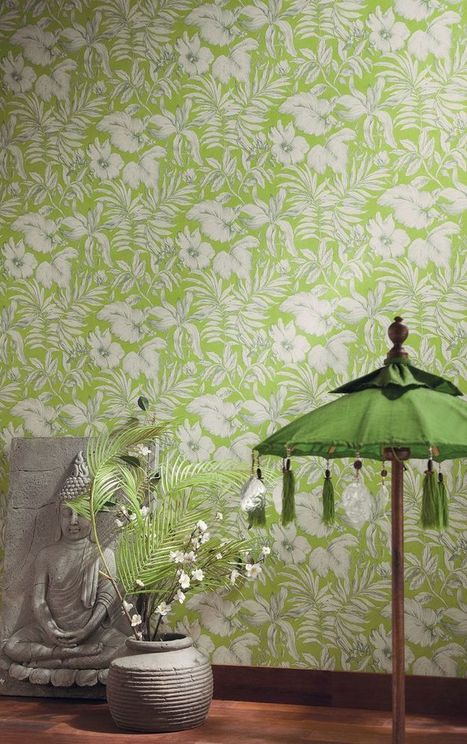 Tropical Wallpaper - Palm Leaf Wallpaper - Think Jungles & Balmy Nights - Think Fresh & Cool - Wow Wallpaper Hanging | Interior Wallpaper | Scoop.it