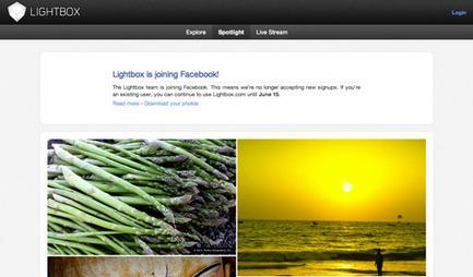 Rachat du service de partage de photos Lightbox par Facebook | Communiquer sur le Web | Scoop.it