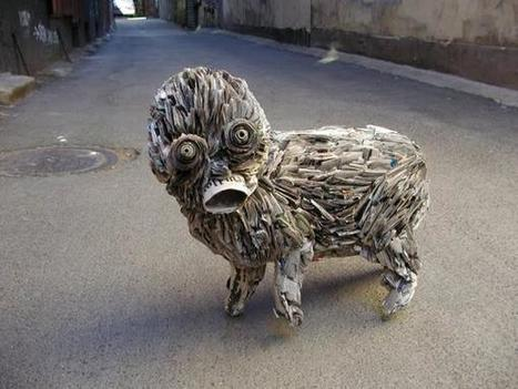 Incredible Newspaper Sculptures by Nick Georgiou | Class 8 Recyclable Art | Scoop.it
