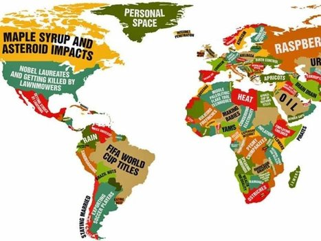 MAP: What Every Country Leads The World In | Geography in the news | Scoop.it