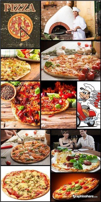 Stock Photos: Delicious Pizza Set #1 | DesignFeed | Scoop.it