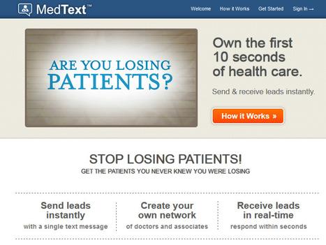 MedText - Mobile Networking for Medical Professionals | Santé et Médias Sociaux | Scoop.it