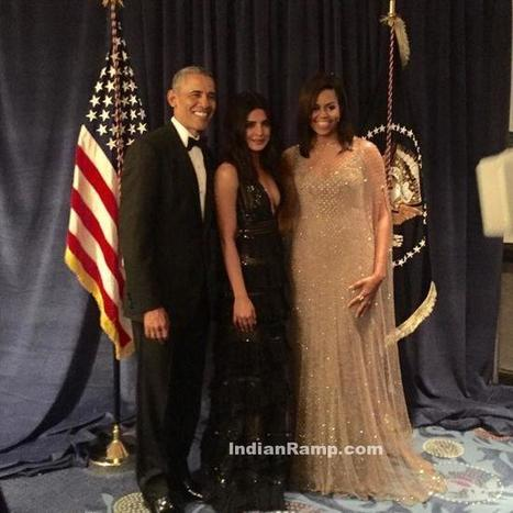 Priyanka Chopra with United States President Obama and his Wife, Actress, Bollywood, Hollywood, Western Dresses | Indian Fashion Updates | Scoop.it