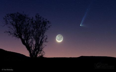 Comète surprise et croissant de Lune | The Blog's Revue by OlivierSC | Scoop.it