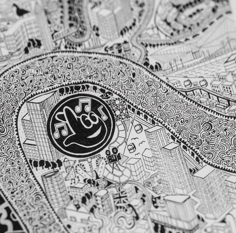 Map Monday: A Swirling, Hand-Drawn, Impossibly Detailed London Map   GeoWeb OpenSource   Scoop.it