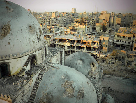 Old-centuries Khalid bin Walid mosque's mausoleum, destroyed by war - al-Khal... | Rebrn.com | Modern Ruins | Scoop.it