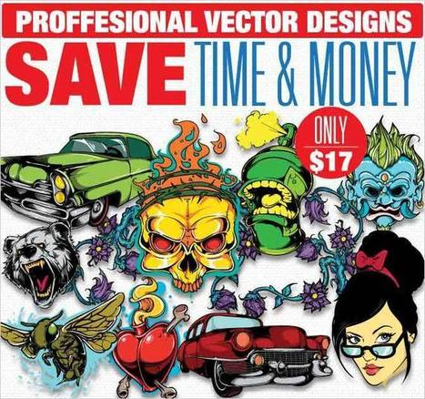 400+ High-Quality, Scalable Vectors from T-Shirt Factory - only $17! On MightyDeals | Design Arena | Scoop.it