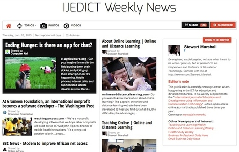June 13, 2013: IJEDICT Weekly News is out | ICT for Education and Development | Scoop.it
