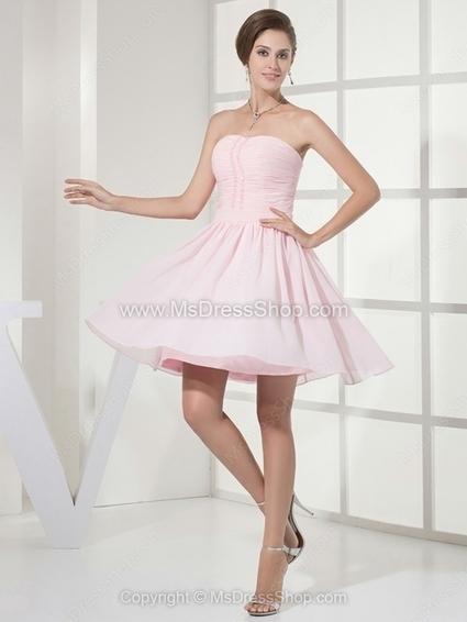 A-line Strapless Chiffon Short/Mini Ruffles Homecoming Dresses | Cocktail dresses online | Scoop.it
