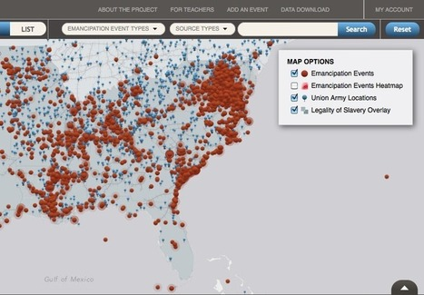 Visualizing Emancipation(s): Mapping The End of Slavery in America | History and Social Studies Education | Scoop.it