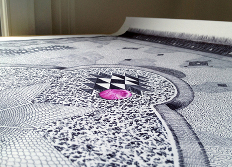 Unbelievable Carpet Drawings With Ballpoint Pens by Jonathan Bréchignac   Yatzer™   art   Scoop.it