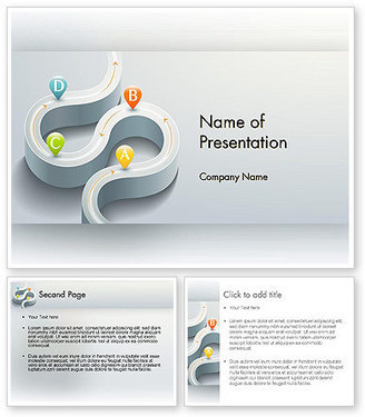Road with Navigation Points PowerPoint Template | PowerPoint Presentations and Templates | Scoop.it