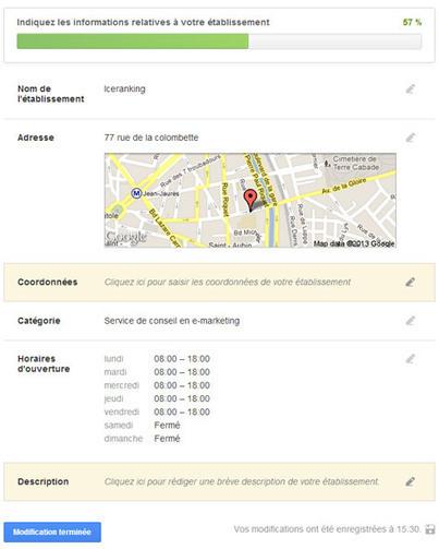 Conseils d'optimisation de la page Google+ Local | IceRanking® | Lise's Webmarketing | Scoop.it