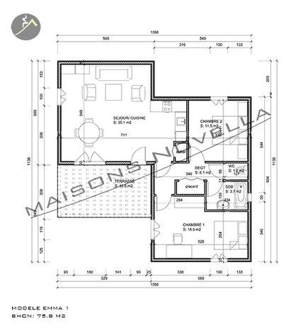 La gamme Emma | Maison bois maroc, constructeur de maisons au maroc - maison design | maison-bois-maroc | Scoop.it