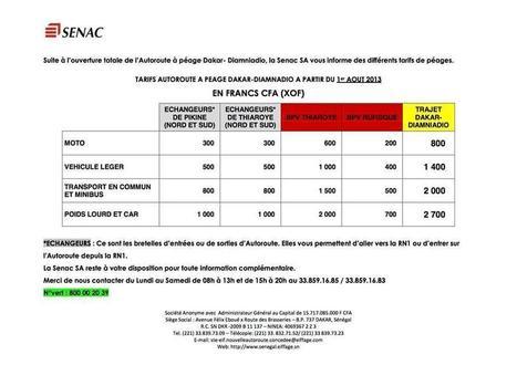 Les tarifs de l'autoroute à péage Dakar-diamniadio | ACTUALITE & SPORT | Scoop.it