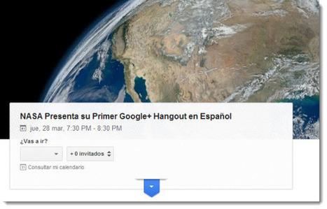 La NASA presentará su primer Hangout en español   Las TIC y la Educación   Scoop.it