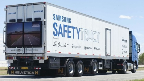 Samsung to roll out screen-equipped trucks that show the road ahead | Beacon | Scoop.it