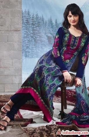 Crepe Embroidered Suits for Women, Online Crepe Salwar Kameez Dresses   CHICS & FASHION   Scoop.it