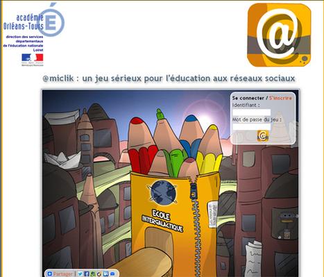 @miclik : un jeu sérieux pour l'éducation aux réseaux sociaux (9-12 ans) | | FLE | Scoop.it