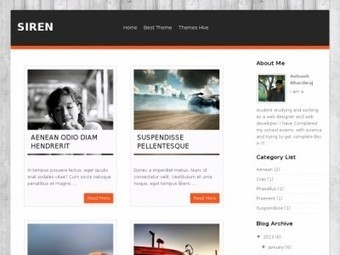 Siren Blogger Theme Free Download by Justin - HeavenThemes | Blogger themes | Scoop.it