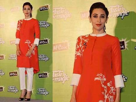 Karishma Kapoor In Orange Kurti & Cigarette Pants | Celebrity Fashion Trends | Scoop.it