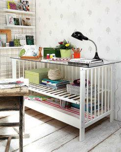 ideas para tu bebe. Como convertir una cuna en mesa de despacho  www.paratubebe.net | paratubebe | Scoop.it