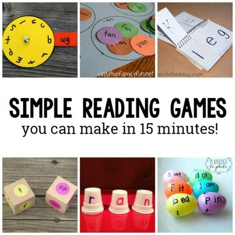 10 DIY Reading games for kids | Cool School Ideas | Scoop.it