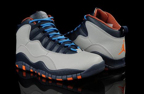 Air Jordan 10 Retro Bobcats Wolf Grey Orange for Sale Online | Air Jordan shoes | Scoop.it