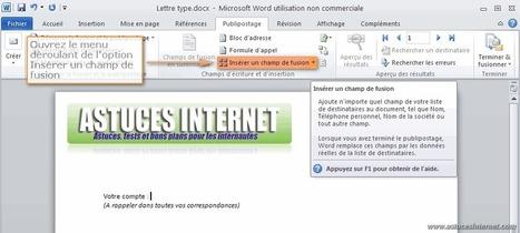Créer un publipostage avec Word 2010 - Bureautique | Time to Learn | Scoop.it