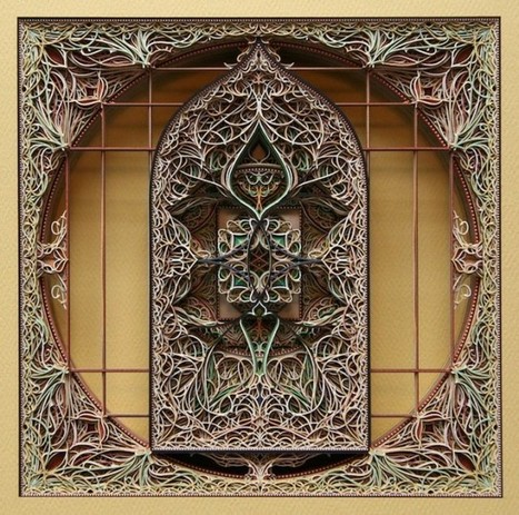 Eric Standley's Stained Glass Paper Windows | Interesting stuff | Scoop.it