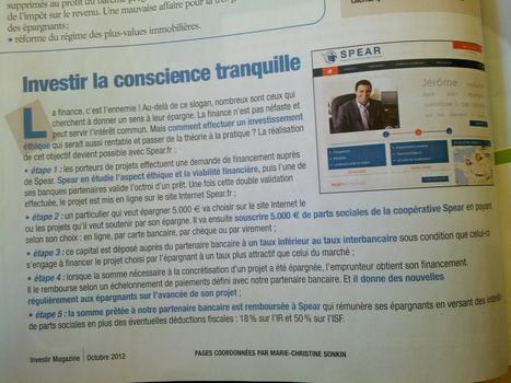 Un article sur SPEAR dans le magazine Investir d'Octobre ! | SPEAR dans la presse | Scoop.it