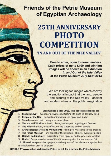 """""""In and out of the Nile Valley""""  : Petrie Anniversary Photographic Competition 