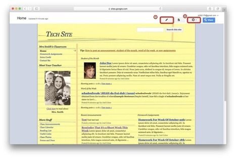 Creating a Class Website on Google Sites | Technology | Scoop.it